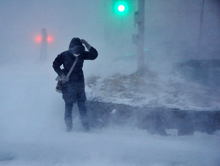 Штормовые снегопады надвигаются на Красноярск