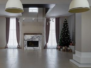 Загородный отель с колоннами и камином выставили на продажу в Новосибирске