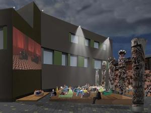 Кинотеатр под небом, лекторий и деревянные идолы. Новое пространство в центре города