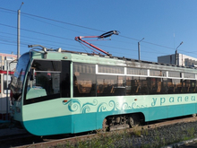 Челябинские трамваи вслед за автобусами покрасят в зеленый цвет