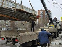В Красноярске в ходе ремонта дороги снесли 22 павильона