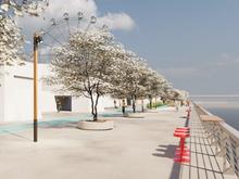 Набережную вдоль РК «Мегаполис» начнут строить через две недели