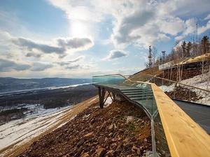 На новую смотровую площадку Красноярска запустят канатку