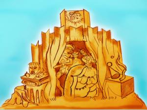 Купцы, металлурги, танки и паровозы: челябинский Сад камней украсят песчаными скульптурами