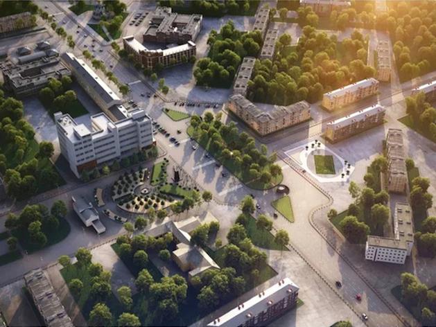 Концепция восстановления объектов на площади Первой Пятилетки