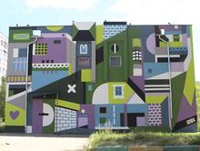 Фасады четырех производственных зданий АО «Теплоэнерго» стали полотнами для художников