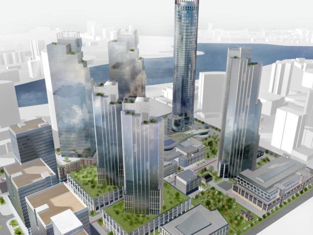 Появился проект пяти новых небоскребов «Екатеринбург-Сити»