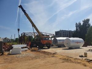 Подрядчик приступил к монтажу каркаса здания будущей котельной в Чкаловске