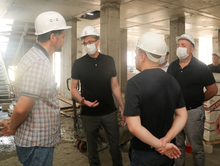 Шалабаев пригрозил расторгнуть контракт с подрядчиком, возводящим детсад в Новой Кузнечихе