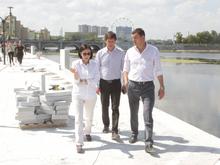 Набережную на реке Миасс обещают достроить к концу лета, хотя сроки срываются