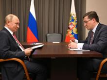 Глеб Никитин попросил Путина поддержать строительство ВСМ