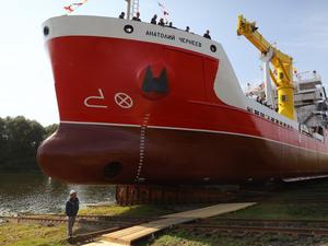 На «Окской судоверфи» построили грузопассажирское судно для Камчатки