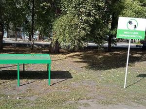На Аллее Славы поставили столы для кормления голубей