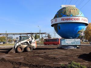 Яблони, кизильник, смородина: в Красноярске благоустраивают кольцевые развязки