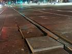 Трамвайные пути от подрядчика набережной Миасса сошли с первым снегом